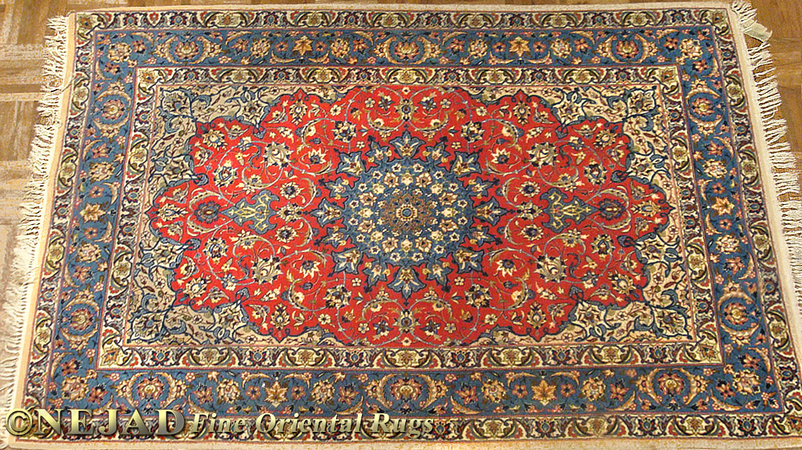 13443 Persian Isfahan Silk Wool