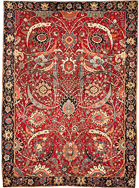 Clark Sickle-Leaf Antique Persian Carpet