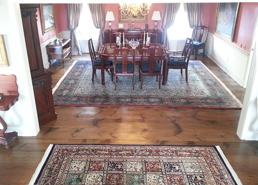 Hunt Tabriz and Bahktiari Rugs in Newtown PA Home