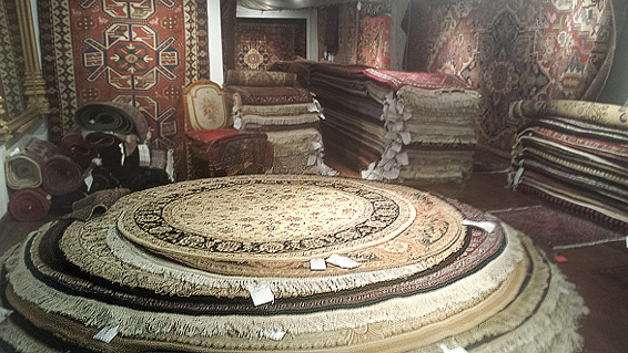 Round Rugs in Nejad Rugs Showroom