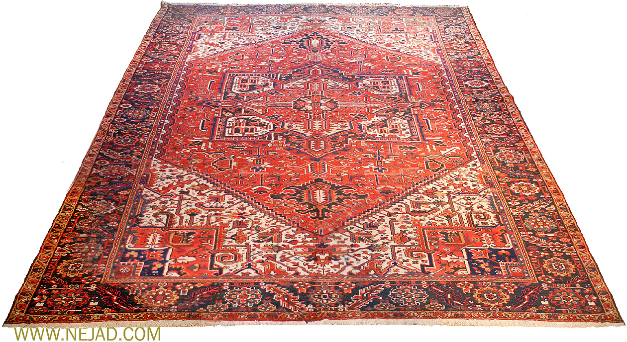 Antique Persian Heriz Rug - Nejad Rugs #13461
