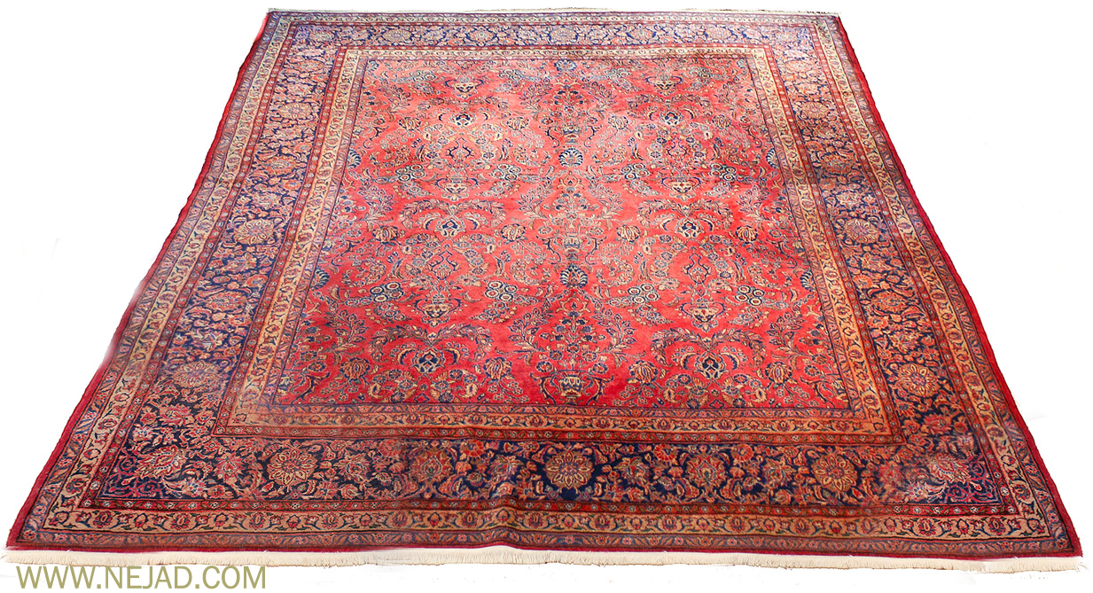 Antique Persian Kashan Rug - Nejad Rugs #987486