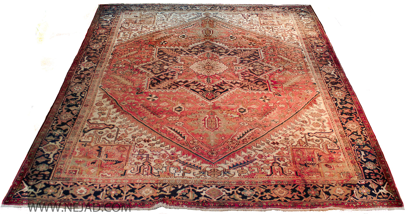 Antique Persian Heriz Rug - Nejad Rugs #987497