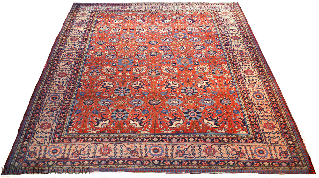 Antique Persian Tabriz Rug - Nejad Rugs #987590