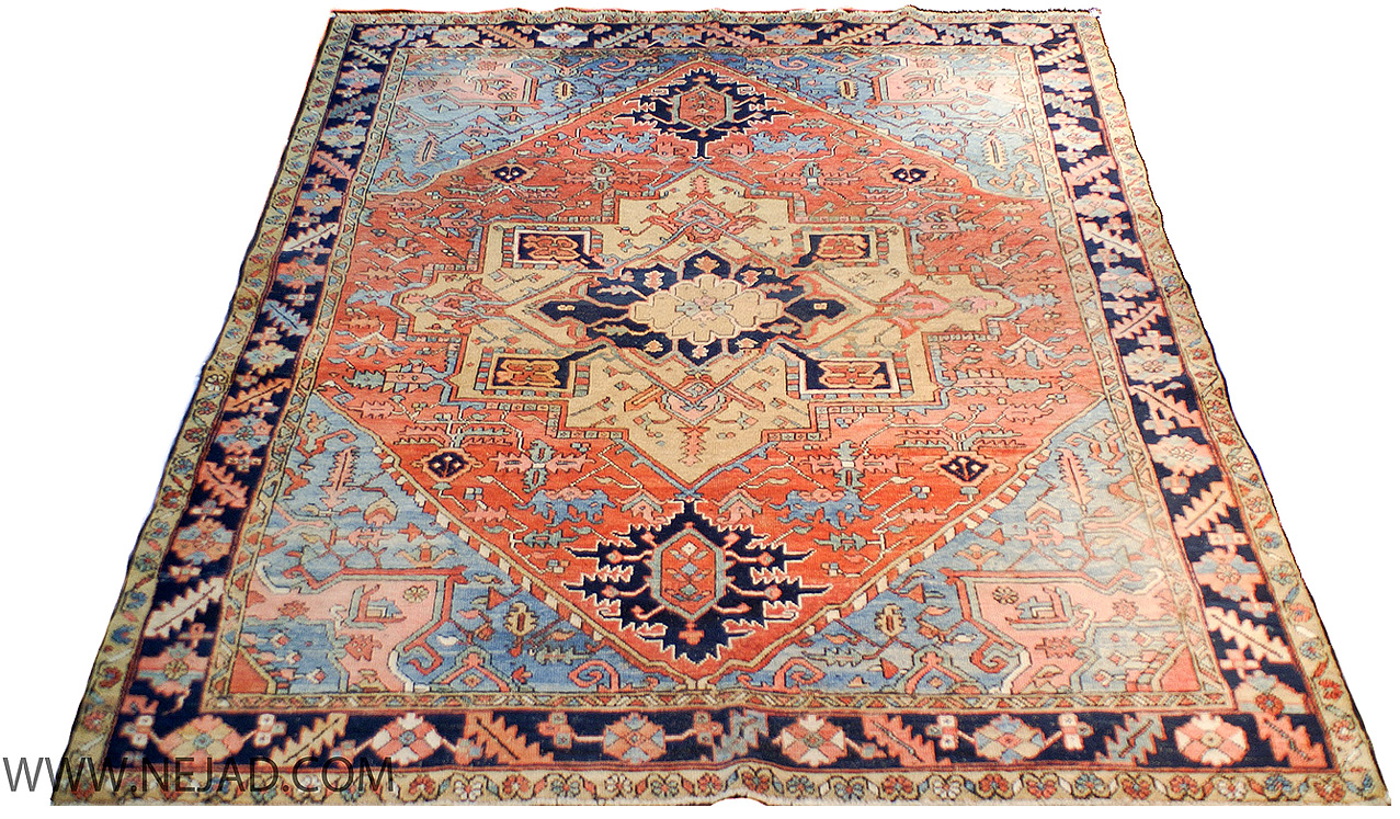 Antique Persian Heriz Rug - Nejad Rugs #987591