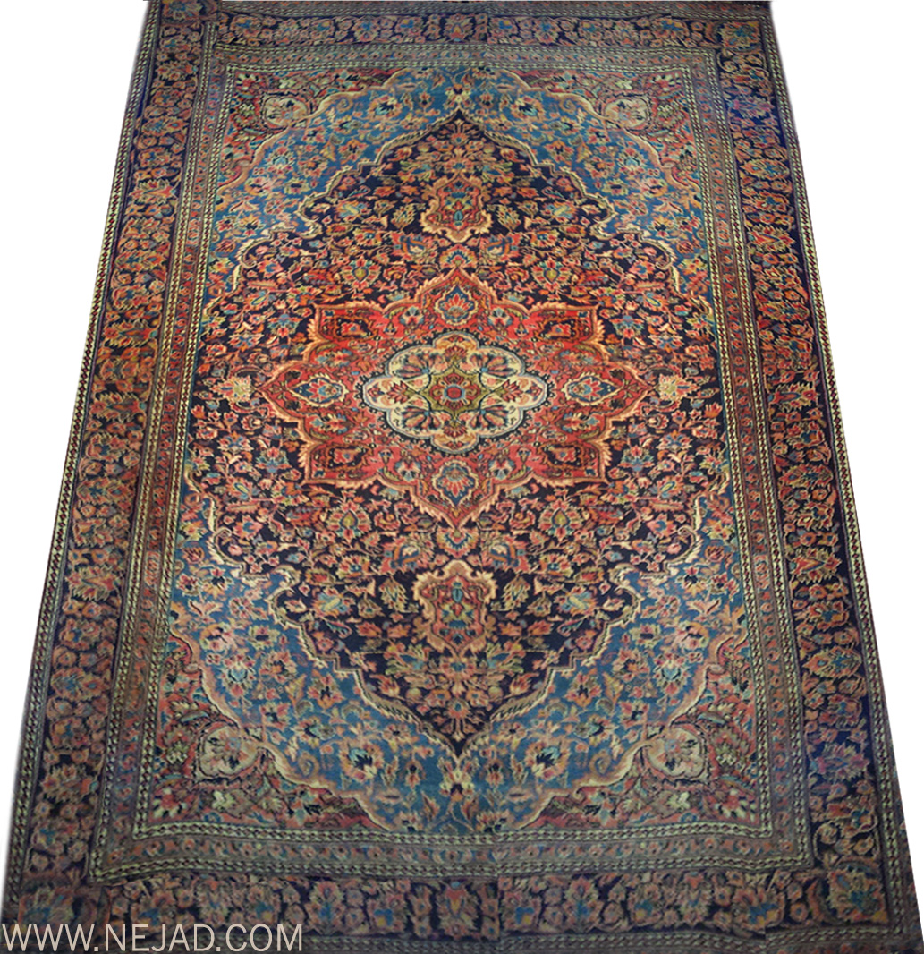 Antique Persian Kashan Rug - Nejad Rugs #987584