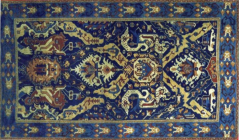 This Antique Armenian Dragon Rug ...