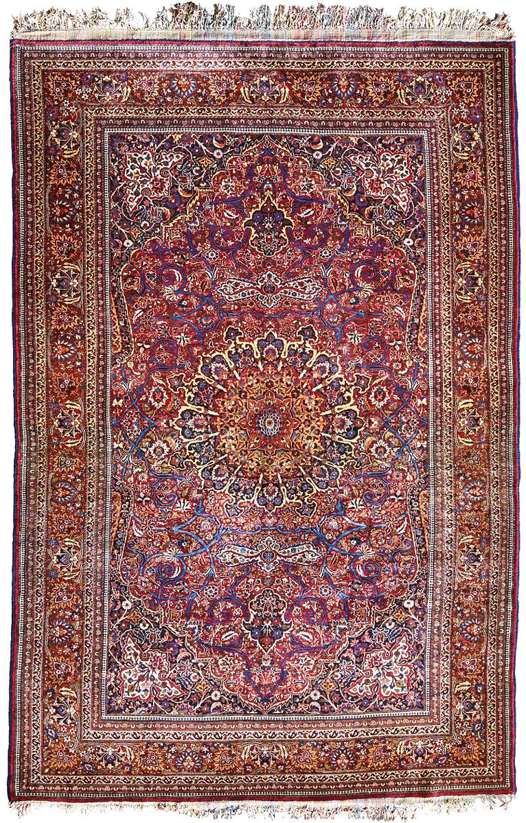 Persian Mashhad Antique Oriental Rugs