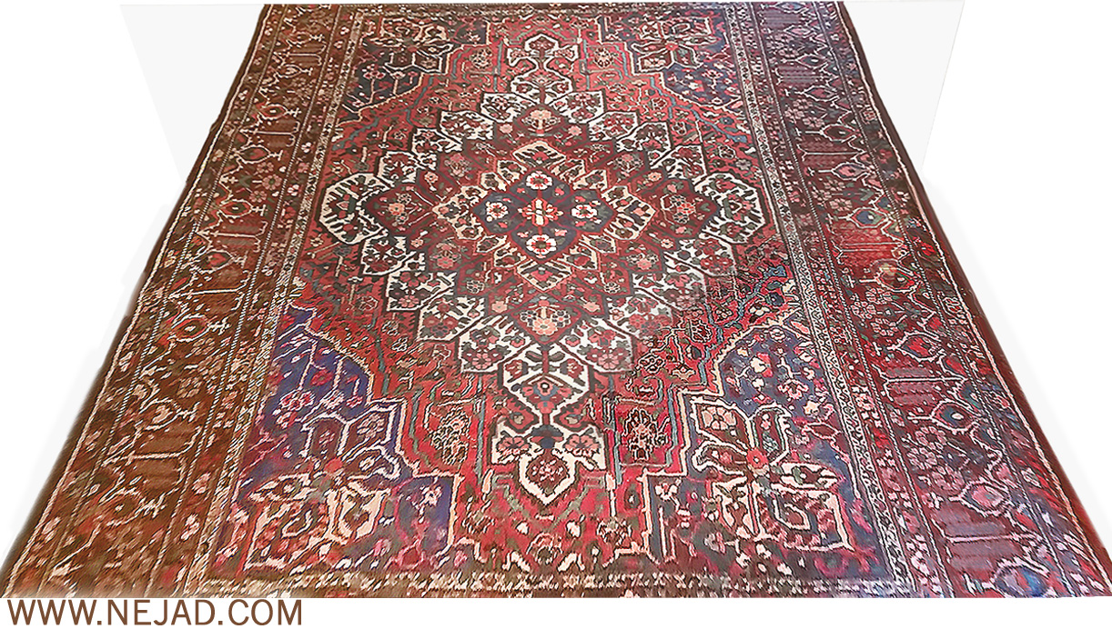 Antique Persian Bakhtiari Rug - Nejad Rugs #7007