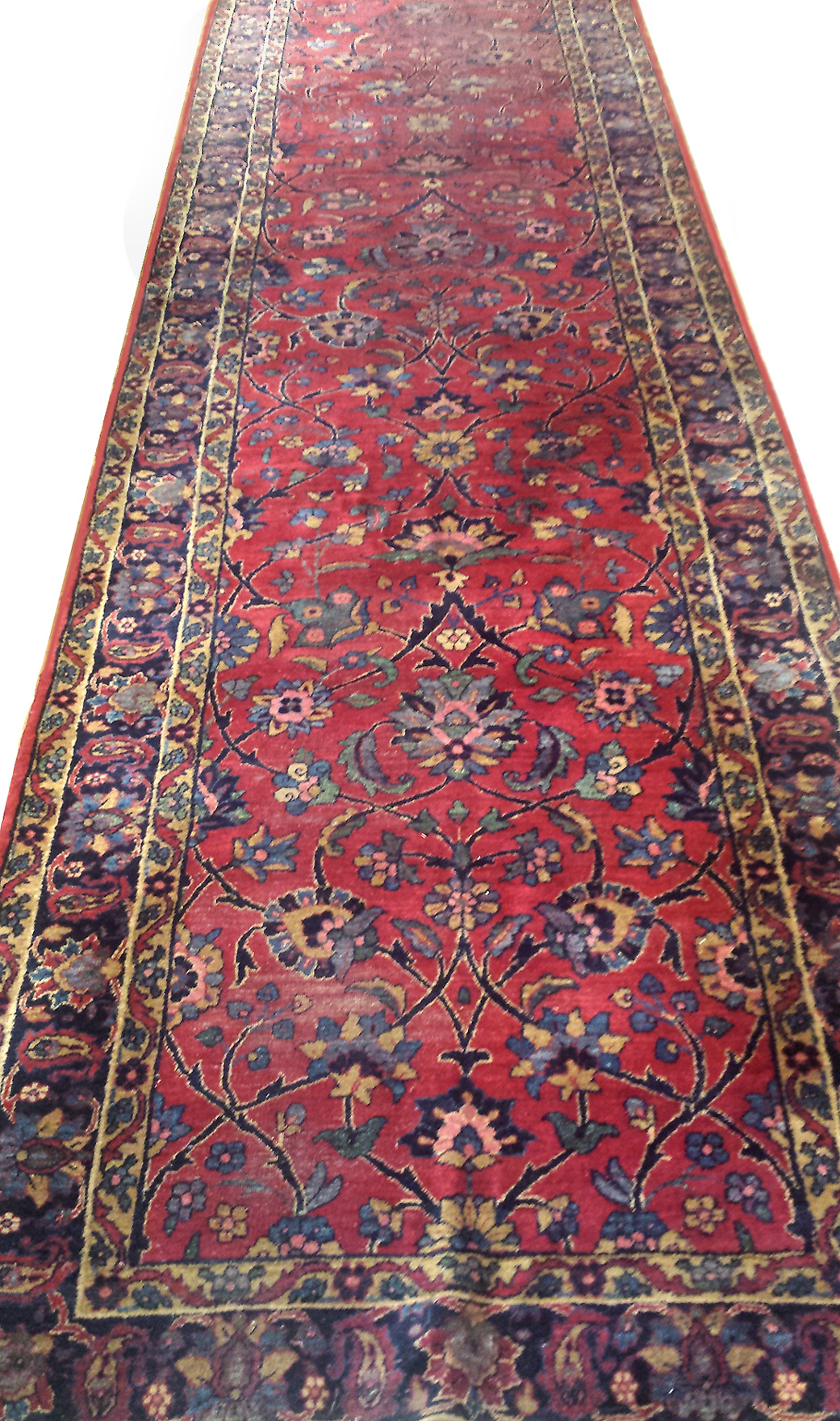 Antique Persian Manchester Kashan Rug c. 1910