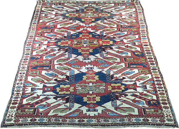 Chelaberd Eagle Kazak antique rug c. 1890