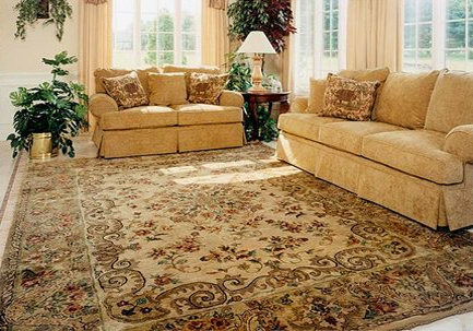 Nejad rug #T055 Gold colored rug designed by Theresa Nejad