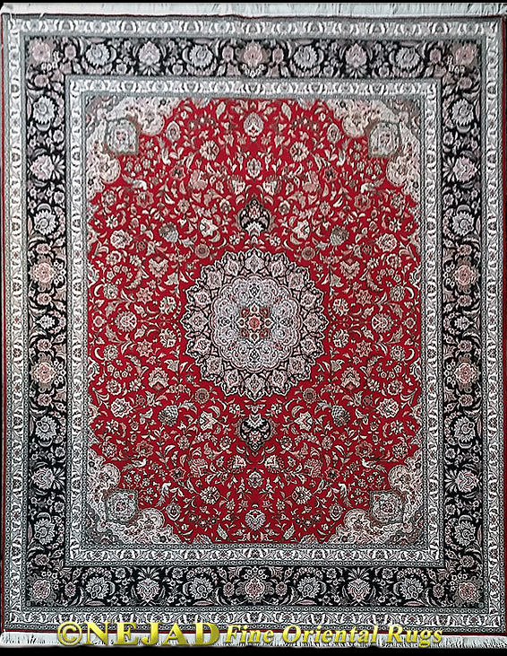 Genuine Fine Persian Tabriz Rug One Of A Kind 8 10 4