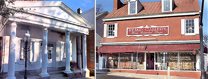 Nejad's Rug Showrooms at 1 North Main Street and  21 North Main Street in Doylestown, PA