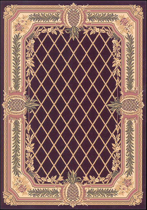 Pineapple Aubuson Rug - Cape May  << Click Rug to Go Back