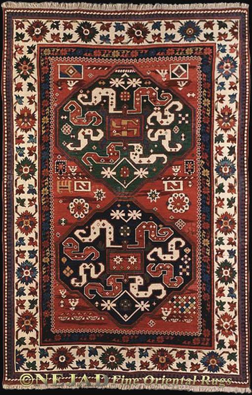 Moghan Kazak Kilim Rug K033 Multi Ivory Nejad Santa