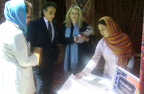 Theresa and Ali Nejad in Afghanistan as envoys of US Commerce Dept fact-finding & infrastructure rebuilding mission.