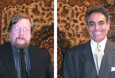 Left: Newly-appointed Director of Shipping Richard Watts. Right: Nejad Rugs CEO Ali Nejad.