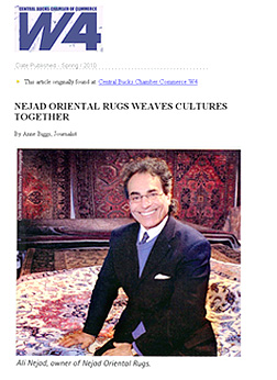 NEJAD ORIENTAL RUGS  WEAVES CULTURES TOGETHER  Central Bucks Chamber Commerce W4