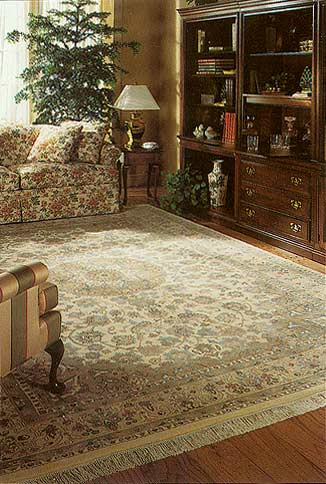 Oriental rug interior design decorating with handmade - Decorating with area rugs ...