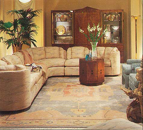 Oriental rug interior design decorating with handmade for Living room design in nepal