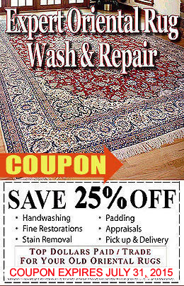 25% OFF Expert Rug Washing and Repair Coupon
