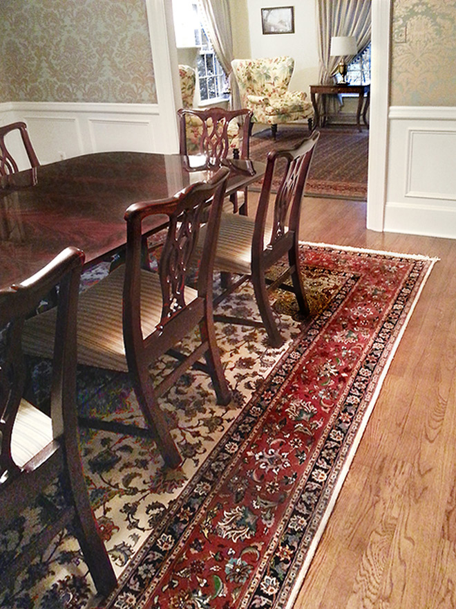 Nejad Persian Tabriz rug featured in New Jersey luxury home