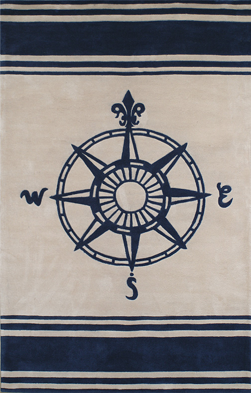 Great AT075TLIY Classic Compass Beach Rug U003cu003c Click Rug To Go Back