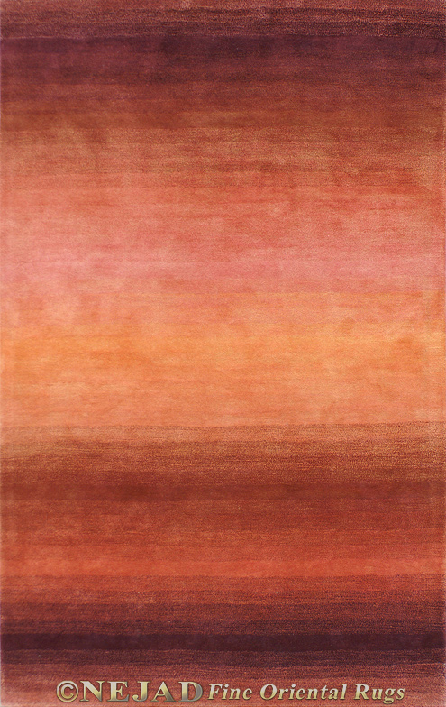 Shades of Nature Rust/Gold Casual Contemporary Rug  << Click Rug to Go Back
