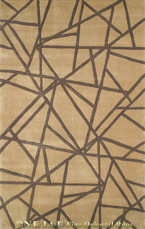 Connected Gold/Brown Casual Contemporary Rug  << Click Rug to Go Back