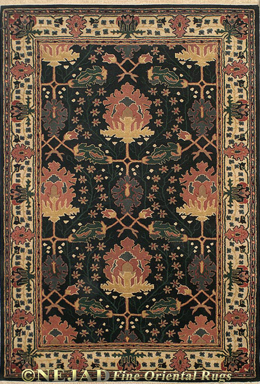 T049BKIY Nejad Aubusson rug  << Click Rug to Go Back