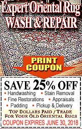 Expert Oriental Rug Wash & Repair Coupon
