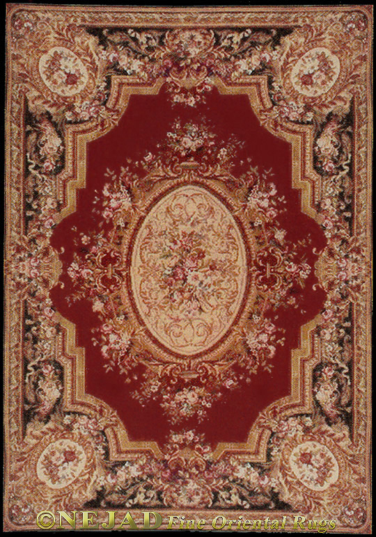 Nejad Versailles Aubusson Rug  << Click Rug to Go Back