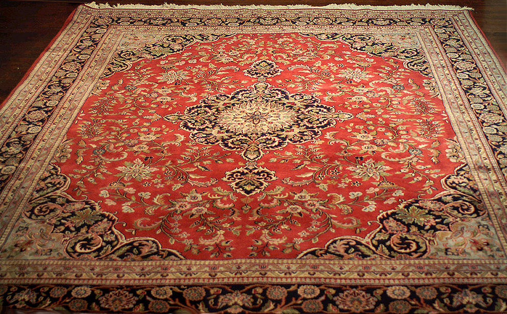 8 X 10 Persian Kashan Hand Knotted Wool Area Rug