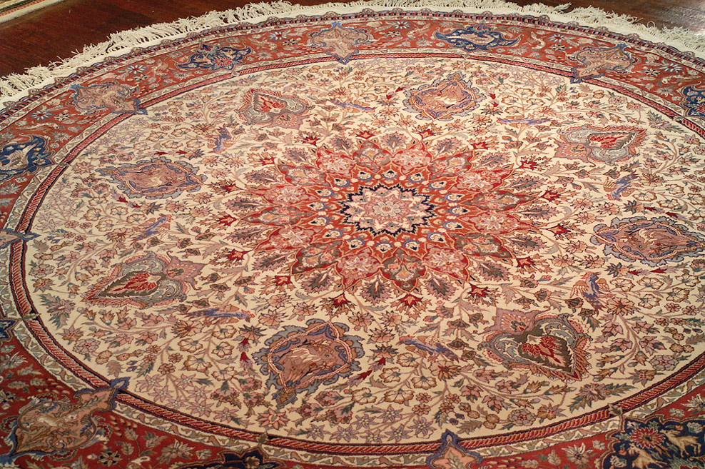 Wool And Silk Round Rugs Area Rug Ideas