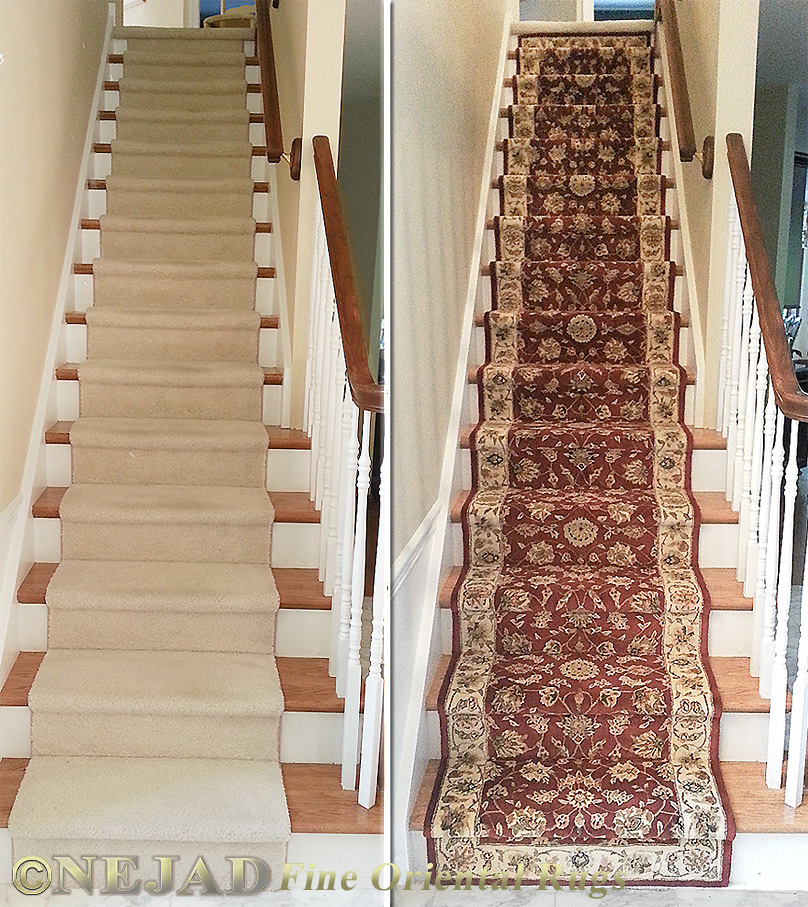 Merveilleux Nejad Rugs Staircase Runner Installation In Doylestown, Bucks County PA    Before And After