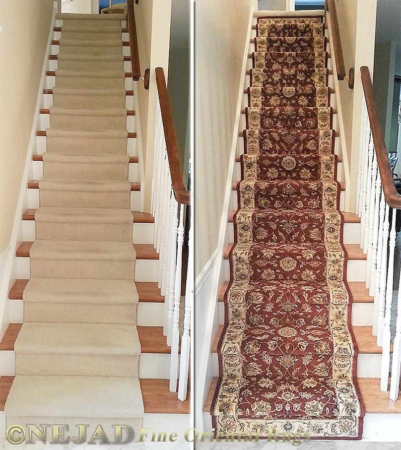 Staircase Rug Runner Installation In Philadelphia