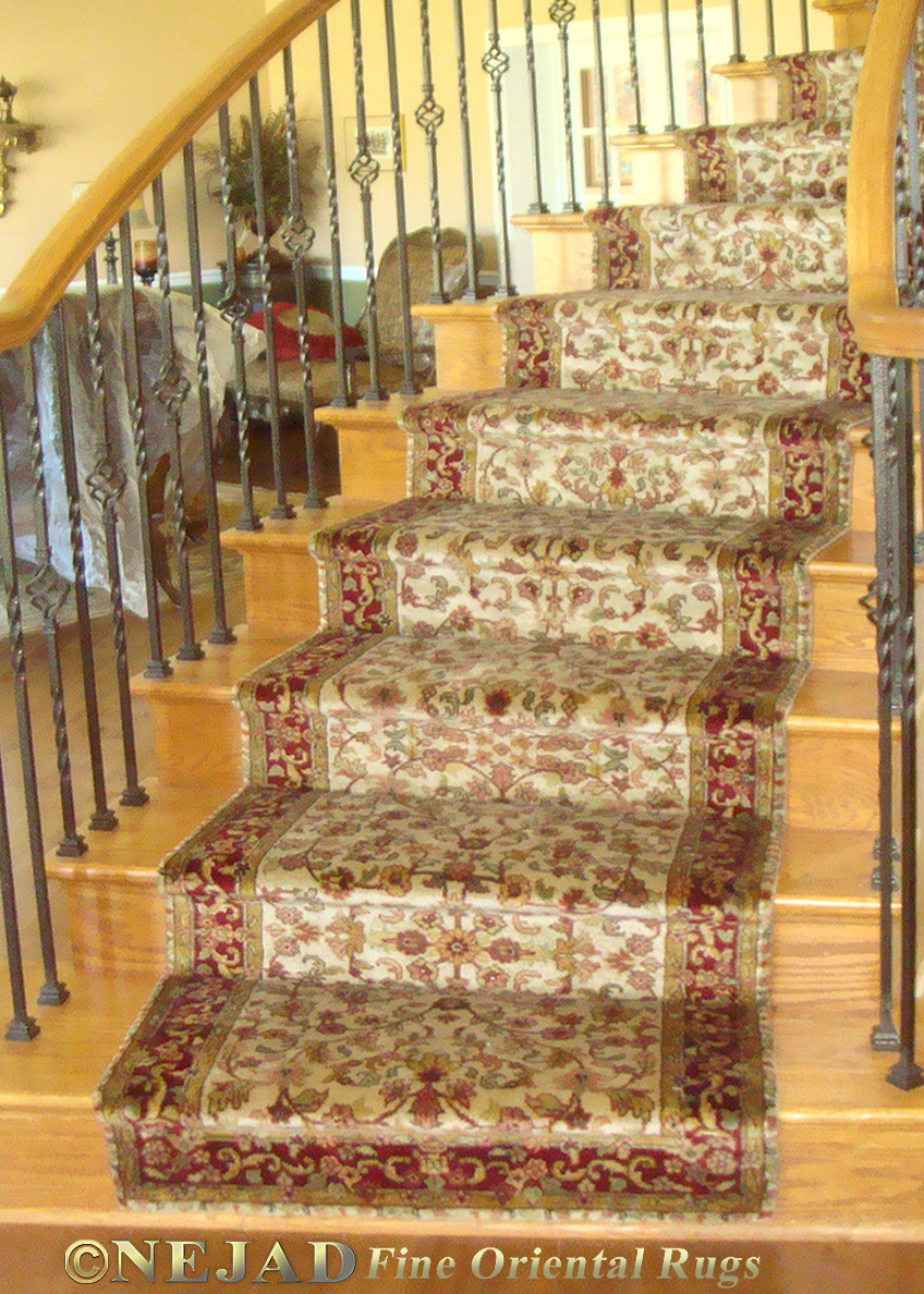 Nejad Rugs Staircase Runner Installation In Skippack, Bucks County PA