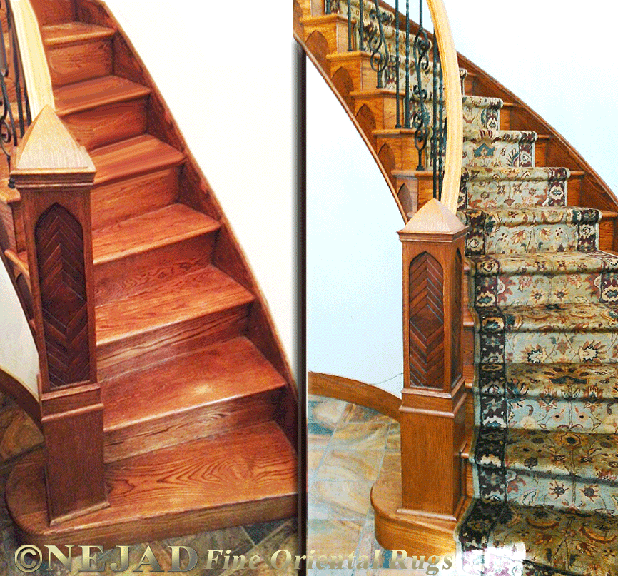 Nejad Rugs Staircase Runner Installation In Bucks County Pa