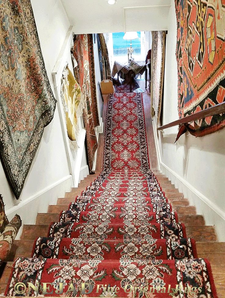 Rug Runner Installation On Stairs And Landing In Philadelphia Area Home