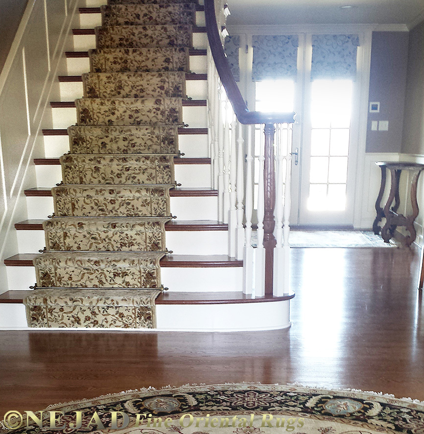 Staircase Rug Runner Installation In Philadelphia