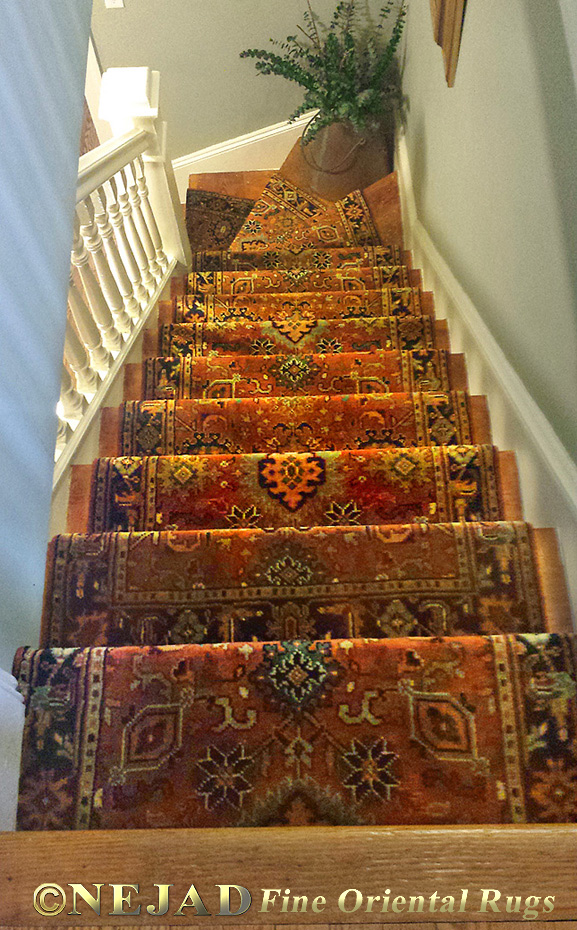 Nejad Rugs Staircase Runner After Installation