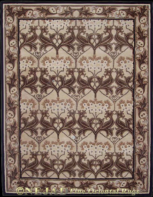 T008TPBK Arts &amp; Crafts rug  << Click Rug to Go Back