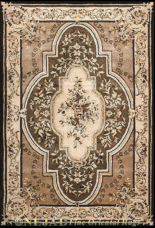 T009TPBK Nejad Aubusson rug  << Click Rug to Go Back