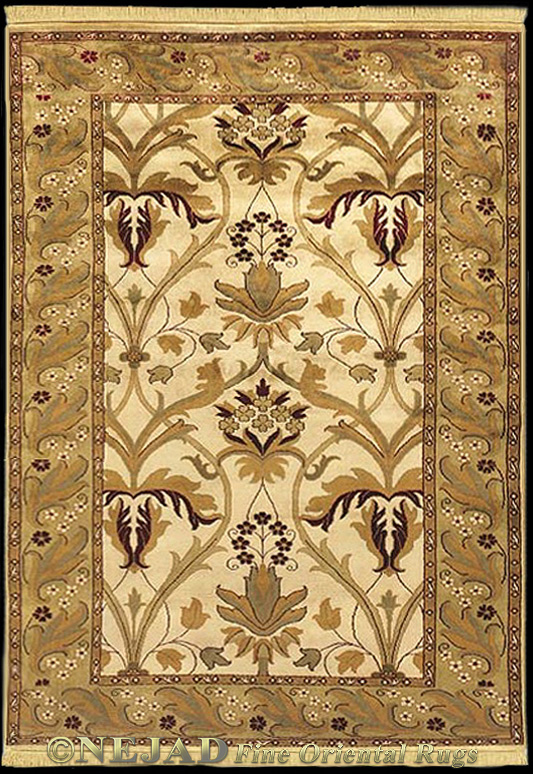 T017AISA Arts &amp; Crafts rug  << Click Rug to Go Back