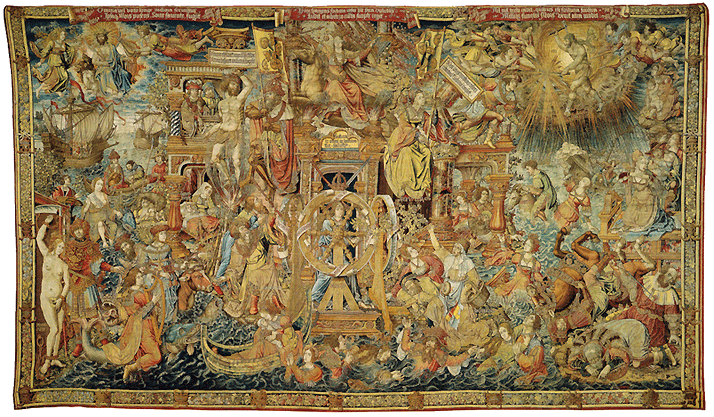 About Antique Flemish Tapestry An