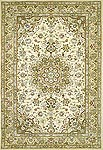 SP011 Sino Tufted Tabriz w/ Medallion - Ivory / Beige