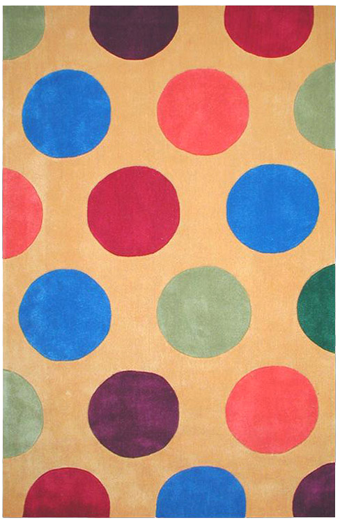 Bright Rug Collection - AT011YL Dots