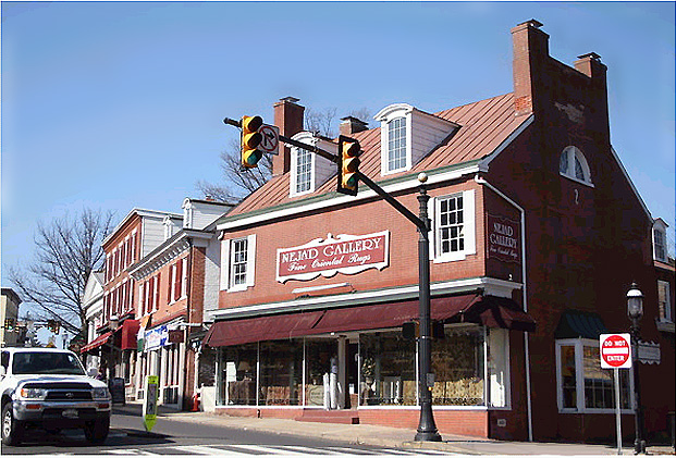Nejad Gallery of Fine Oriental Rugs located at  1 N. Main at the corner of Main and State streets in Doylestown, PA